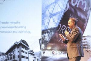 Jordi Nadal va detallar com serà l'edifici The Cloud, ahir en una ponència al Congrés de la Fiabci.